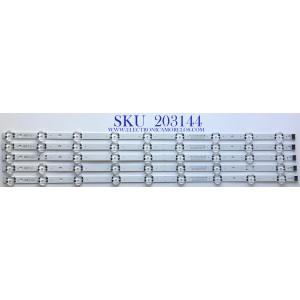 KIT DE LED'S PARA TV LG (5 PIEZAS) / NUMERO DE PARTE  EAV64992901 / SSC_Y19.5_Trident_65UM73_S / SSC_Y19.5_Trident_65UM73_REV00_190823 / E469119 / PANEL NC650DQG-ABHX7 / MODELO 65UN7300AUD