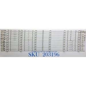 KIT DE LED'S PARA TV VIZIO (12 PIEZAS) / NUMERO DE PARTE LB7000J / LB7000J V3 05 / LB7000J V4 05 / E466169 / PANEL SD700DUS-5 / SD700DUA-5 / SD700DUS-5 / MODELO V705-H13 / V705-H3