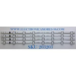 KIT DE LED'S PARA TV LG (4 PIEZAS) / NUMERO DE PARTE EAV64755801 / SSC_Y19_Trident_55UM73_S / SSC_Y19_Trident_55UM73_REV00_190614 / PANEL  NC550DQG-ABX1 / MODELOS 55UM7300PUA / 55UN7300PUF.BUSFLKR
