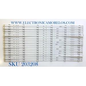 KIT DE LED'S PARA TV LG (16 PIEZAS) / NUMERO DE PARTE EAV64757901 / SSC_Y20_SLIMDRT_55NAN090_LGD_S / SSC_SSC_Y20_SLIMDRT_55NAN090_LGD / REV00_190925 / LGD55049 / SSC_LGD / PANEL HC550DQB_SLCA1 /MODELO 55NAN090UNA.BUSWLJR