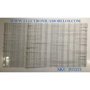KIT DE LED'S PARA TV LG (60PIEZAS) EAV64593201 / EAV64593301 / SSC_Y19 SLIMDRT_A_86SM90_S / SSC_Y19 SLIMDRT_B_86SM90_S / SSC_Y19 SLIMDRT_A_86SM90_REV00_190122 / SSC_Y19 SLIMDRT_B_86SM90_REV00_190122 / PANEL NC86DQD / MODELOS 86NAN090UNA / 86SM9070PUA
