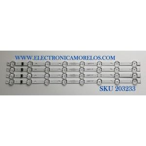 KIT DE LED'S PARA TV LG (4 PIEZAS) / NUMERO DE PARTE EAV65006701 / SSC_Y19.5_Trident_55UM73_S / SSC_Y19.5_Trident_55UM73_REV00_CASE1 / PANEL NC550DQG-AAHX3 / MODELO 55UN7300AUD.BUSWLKR