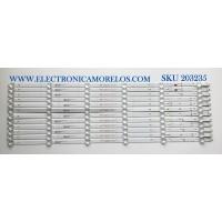 KIT DE LED'S PARA TV ONN / JVC (12 PIEZAS) / NUMERO DE PARTE 30370006003 / 30370006004 / LED70D06A-ZC66AG-03 / LED70D06B-ZC66AG-03 / E78030 / MODELOS  10012588 / LT-70MAW795