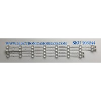KIT DE LED'S PARA TV TCL (4 PIEZAS) / NUMERO DE PARTE KW-55D / KW-55D-L08-20190725V3 / KW-55D-L07-20190725V3 / 4C-LB5508-PF05J / 4C-LB5507-PF05J / PANEL LVU550NDEL / MODELO 55S425