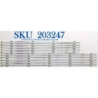 KIT DE LED'S PARA TV VIZIO (10 PIEZAS) / NUMERO DE PARTE I-5500WS80091 / I-5500WS80091-R-V2 / I-5500WS80091-L-V2 / PANEL LSC550FFN11 / MODELOS D55-F2 / D55-F2 LWZQWXKU
