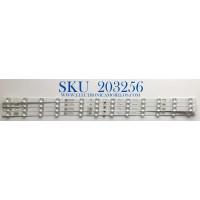 KIT DE LED'S PARA TV TCL (4 PIEZAS) / NUMERO DE PARTE GIC65LB105_3030F2.1D / GIC65LB105_3030F2.1D_V07_20200709 / 4C-LB6512-ZM05J / PANEL LVU650NDEL / MODELO 65S435