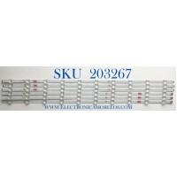 KIT DE LED'S PARA TV VIZIO (6 PIEZAS) / NUMERO DE PARTE LB7000H / LB7000H V1 02 / LB7000H V0 02 / 210BZ10DL / 210BZ10DR / PANEL TPT700B5-U1T01.D REV:S01BA / MODELOS V705-H1 / V705-H1 LTMHZJKW