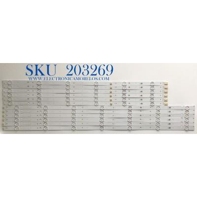 KIT DE LED'S PARA TV SONY (12 PIEZAS) / NUMERO DE PARTE LM41-01023A / LM41-01024A / L3_2L_F5_CFP_R6_1_R1.0_U5C_1.0 / L3_2L_F5_CFP_L7_1_R1.0_U5C_1.0 / PANEL YSAF065CNS01 / MODELOS KD-65X750H / KD65X750H