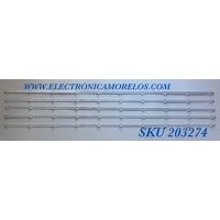 KIT DE LED'S PARA TV ELEMENT (5 PIEZAS) / NUMERO DE PARTE DLED55YL 5X10 0001 / 21006921 / DLED55YL5X100001 / MODELO E4SFT5517
