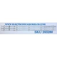 KIT DE LED'S PARA TV SAMSUNG (3 PIEZAS) / NUMERO DE PARTE SSC_SS32_3X5_2W_MCPCB / SSC_SS32_3X5_2W_MCPCB  12mm_V0 / 09810104MC04 / KE4P-64B0-2-B / PANEL T320HVN05-4 / MODELO UN325300AFXZA