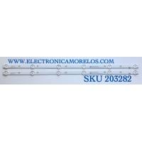 KIT DE LED'S PARA TV ELEMENT (2 PIEZAS) / NUMERO DE PARTE 02D651206001-X2 / 14BHT7F3W47 / A050132GD1000001 / YAL13-00630300-92 / MODELO ELEFW328C  M8P0H