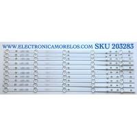 KIT DE LED'S PARA TV ELEMENT (10 PIEZAS) / NUMERO DE PARTE 303KK550040 / KSKK55D05-ZC22AG-04 / KK550M07 / 170830A2 / PANEL'S MD5533YTAF / MD5534YTAF / MD5532YTSF / MD5541YTCF / MD5535YTAF / MODELOS ELEFW5517 / ELEFW5518