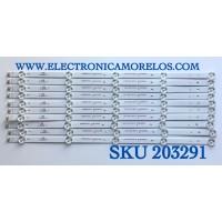 KIT DE LED'S PARA TV ELEMENT (10 PIEZAS) / NUMERO DE PARTE 3P50DX005-A0 / 21005943 / 0350DX011 / A12/G5/30/D / PANEL'S MD5005YTIF / MD5008YTIF / MD5004YTIU / MD5006YTIF / MODELO ELFW5017