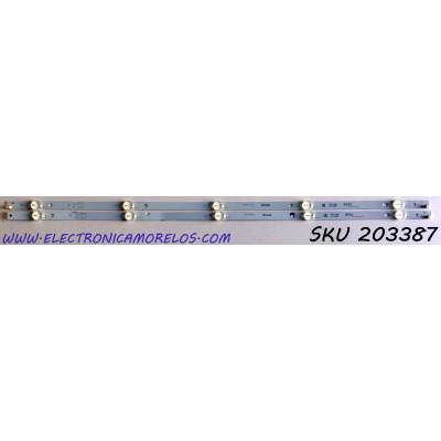 KIT DE LED'S PARA TV VIZIO (2 PIEZAS) / NUMERO DE PARTE IC-C-VZAA32D755 / IC-C-VZAA32D755A / IC-C-VZAA32D755B / PANEL T320XVN02.G / MODELOS D32H-F0 / D32H-F0 LAUAVMKU