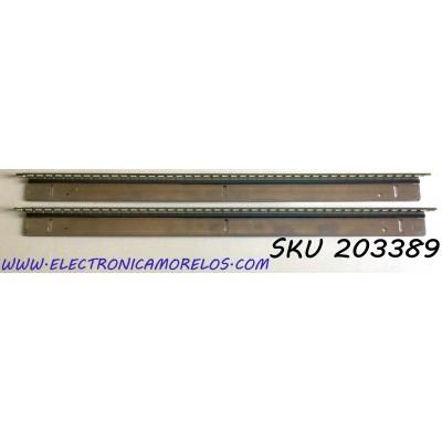 """KIT DE LED'S PARA TV WESTINGHOUSE (2 PIEZAS) / NUMERO DE PARTE GI07030 / PCB FOR AI046"""" (LEFT) REV:B 11S4P / PCB FOR AI046"""" (RIGHT) REV:B 11S4P  / LED:GI07030 / AI046 11S4P GI07030 / MODELO UW46T7HW"""