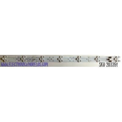 KIT DE LED'S PARA TV POLAROID (3 PIEZAS) / NUMERO DE PARTE DLED.395KJAH / DLED.395KJAH 3X7 0002 / TS395Y16 / 21006800  02 / 5334-A0 / PANEL V400HJ6-PE1 / MODELO PTV40171LED