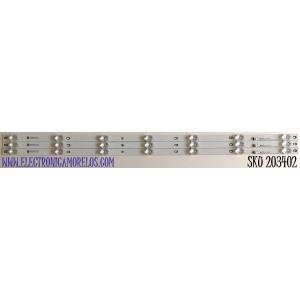 KIT DE LED'S PARA TV VIZIO (3 PIEZAS) / NUMERO DE PARTE INNOLUX_40_D03_3X7_3030C_D6T+2D1_7S1P / P116.35 C5  REV.V1-8 / ABIJB0000132X5 / PANEL V400HJ9-D03 / MODELO D40F-G9