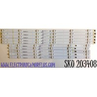 KIT DE LED'S PARA TV VIZIO (10 PIEZAS) / NUMERO DE PARTE AF60H53030T051101D / CRH-AF60H53030T051101D-L-REV1.6 / CRH-AF60H53030T051101D-R-REV1.6 / C605DL1020 / C605DL2020 / PANEL SD600DUA-5 / MODELO V605-H3 / V605-H3 LFTRA3KW
