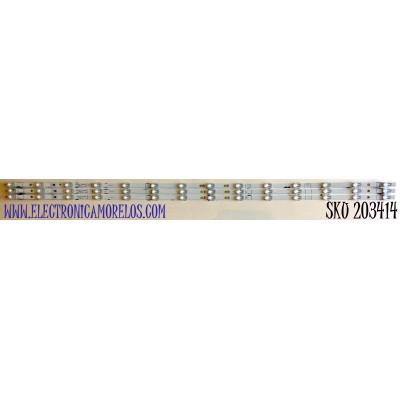 KIT DE LED'S PARA TV HISENSE (3 PIEZAS) / NUMERO DE PARTE LB58007 / LB58007 V0 / HD580X1U91-L1+2019080101 / 1219154 / PANEL CV580U1-F01 / CV580U1-T01 MODELO 58R6E3