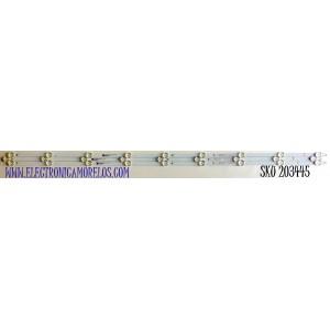 KIT DE LED'S PARA TV ONN (3 PIEZAS) NUMERO DE PARTE 30350009207A / LED50D09A-ZC62AG-02A / 200922AC07 / 50000M83 / PANEL V500DJ7-QE1 / MODELO 100012585