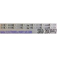 KIT DE LED'S PARA TV ONN (2 PIEZAS) NUMERO DE PARTE BX24D6C303006029BU / CRH-BX24D6C3030060229BUREV1.0 / LB-C240-D6C-X-C-6-18-X1 / B200601A5P / Y166-L05-JA-5 / 221471 / 24D6C / PANEL C2410Y19-D6 / MODELO 100012590