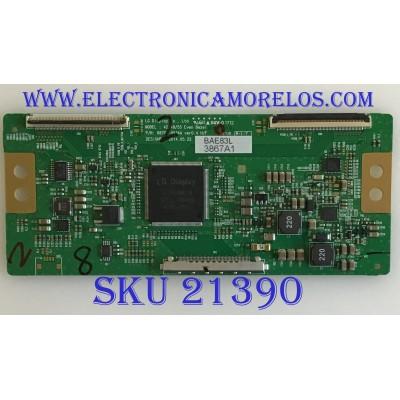 T-CON SHARP / 6871L-3867A / 6870C-0534A / 3867A / PANEL LD420EUN/UH A1 / MODELOS PN-R426 / 42SH7DB-BE AUSNLJM
