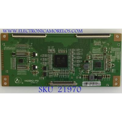 T-CON MAKENA  / RCA / V420DK2-PS1 / 20140822 V3.2 / PANEL V420DK1-QS1 / MODELOS DE416T1NNAF-YA3 / LED42C45RQ