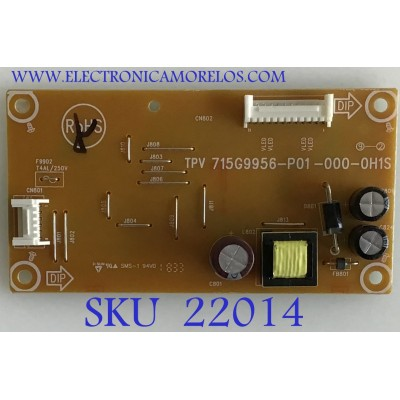 LED DRIVER PARA MONITOR DELL / LNPCIL321AQD1 / 715G9956-P01-000-0H1S / (Q)LNPCIL321AQD1 / PANEL M320DVN02.0 / MODELO S3219DC