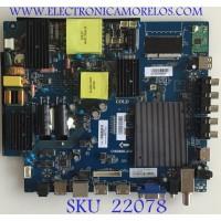 MAIN FUENTE (COMBO) 34021982 / CV6586H-A50 / D6586HA50110.4AC / 88H0925 / PANEL LV546PU2L02 / MODELO WE55IN4108