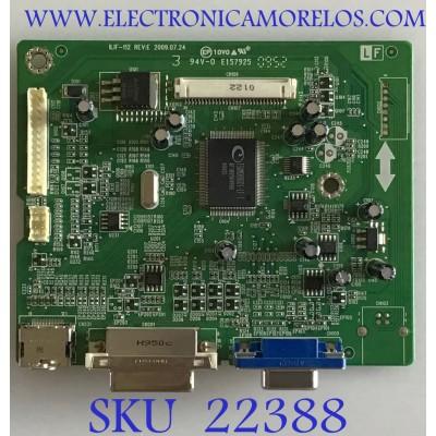 MAIN PARA MONITOR ACER / 792381300704R / 492091300100R / ILIF-112 REV:E / PANEL M240HW01 V.2 / MODELO H243H