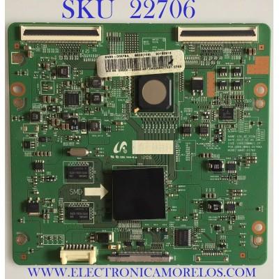 T-CON PARA TV SAMSUNG / BN95-00578A / BN41-01789A / BN97-06370A / PANEL LTJ460HW05-V / MODELO UN46ES6500FXZA TS01