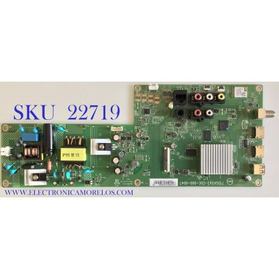 MAIN FUENTE PARA TV VIZIO / XJCB02K010 / 715GA543-C0C-000-004T / (X)XJCB02K010010X/J8KKA2L / PANEL TPT320B5-FHBN0.K REV:S49P2AP / MODELO D32F-G1 LTQUQMKV