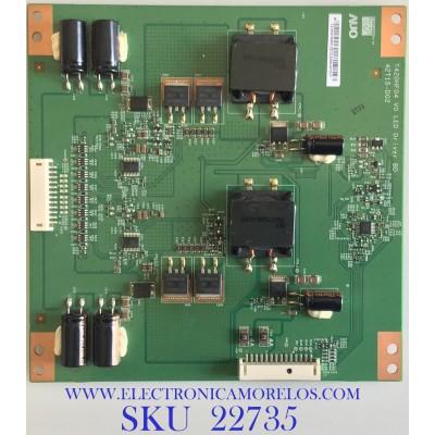 LED DRIVER PARA TV INSIGNIA / 55.54T04.D03 / T420HF04 V0 / 42T15-D02 / 5554T04D03 / PANEL T546HW04 V.0 / MODELO NS-55E790A12