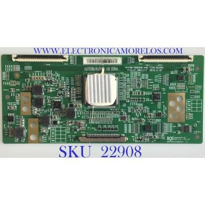 T-CON PARA TV ATYME / 44-97714240B / 47-6021117 / HV430/550QUB-N4D / HV430QUB N4E / PANEL HV430QUB-N4E / MODELO 430AM7UD