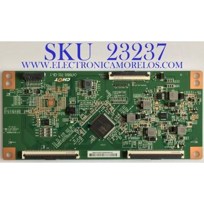 T-CON PARA SMART TV VIZIO / CV700U1-T01-CB-1 / E3CCBB7000030TC2X9CG0HKNH / PANEL TPT700B5-U1T01.D REV:S01AQ / MODELO V705-G1 LTCHQTBW / 70R6270F