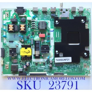 MAIN FUENTE PARA SMART TV SAMSUNG CRYSTAL 4K UHD RESOLUCION (3840 x 2160) / NUMERO DE PARTE BN96-51371A / ML41A050595A / BN9651371A / PANEL CY-BT043HGCV2H / MODELO UN43TU7000FXZA XA03