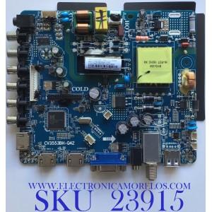 MAIN FUENTE JENSEN / NUMERO DE PARTE LTE32510 / CV3553BH-Q42 / CV3553BH_Q42_13_170324 / 7.T3553BHQ4213.2X3 / F50CV3553BHQ4213002 / 83H02541804FA1851 / PANEL ST3151A05-8 VER.2.8 / MODELO JE3217 / ESTA TARJETA ES CHINA / ENTRAR A DESCRIPCIÓN DEL PRODUCTO