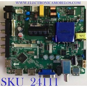 MAIN FUENTE (COMBO) PARA TV ELEMENT / NUMERO DE PARTE 21006149 / TP.MS3553.PB801 / W17080874 / T55HVN08.1 / E17212-2-KK / PANELMD5533YTAF / MODELO ELEFW5517 H7A9M