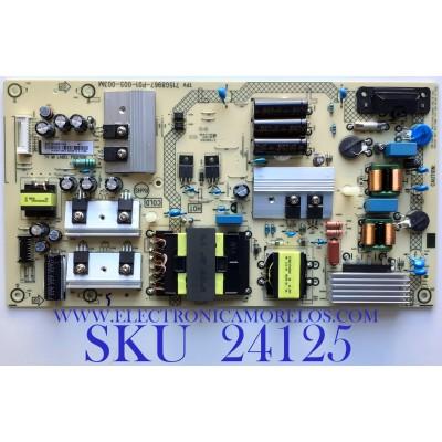 FUENTE DE PODER PARA ROKU TV ELEMENT / NUMERO DE PARTE PLTVHW321XAE2 / 715G8967-P01-005-003M / HW321XAE2 / PANEL TPT550F2-PU2L01.Q / MODELO E4SW5518RKU C8D0U
