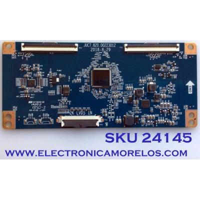 T-CON PARA TV ELEMENT / NUMERO DE PARTE 919L8D7T / JUC7.820.00223012 / PANEL C500F18-E61-P / MODELO E2S5018