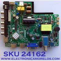 MAIN FUENTE (COMBO) PARA TV ELEMENT / NUMERO DE PARTE 317GAAMB970CVT / AMB970CVTA / TP.MS3553.PB819 / 2605634A0 / AMB970CVTA18126856-0P07177 / PANEL TPT320B5 / MODELO ELEFW328