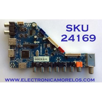 MAIN PARA TV ELEMENT / NUMERO DE PARTE F50CV3553BHC10001 / CV3553BH-C / 7.T3553BHC1000.0A0 / 83H02581804DA0467 / LTE28522 / LTE32514 / PANEL MD5004YTIF / MODELO ELFW5017
