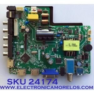 MAIN FUENTE (COMBO) PARA TV ELEMENT / NUMERO DE PARTE J18113461 / TP.MS3553.PB819 / 2605634A0 / PANEL C320X18-E8C-H / MODELO ELEFW328