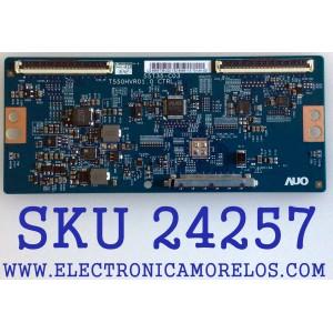 T-CON PARA TV ELEMENT / NUMERO DE PARTE 5555T35C02 / 55.55T35.C02 / 55T35-C02 / T550HVR01.0 / PANEL MD5536YTAF / MODELO ELEFW5517 LE-55GA06-B4