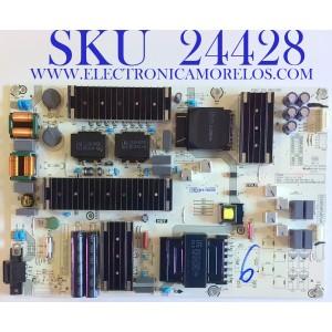 FUENTE DE PODER PARA TV HISENSE SMART TV ROKU 4K UHD / NUMERO DE PARTE 267224 / RSAG7.820.9863/ROH / HLL-9863WD / CQC16134139053 / E56327 / PANEL'S HV750QUB-F90 / HD750S3U72-TAB1\S2\GM\ROH / HD750S3U72-TAB1\S1\GM\ROH / MODELO 75R6E3 / 75R6E3 75A6170FUWR