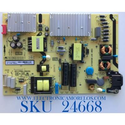 FUENTE DE PODER PARA TV TCL / NUMERO DE PARTE 08-L171WD2-PW200AD / 40-L171H4-PW200AD / CCP-505 / 20293473PS3710 / PANEL LVU650NDEL CS9W11 / MODELO 65S435
