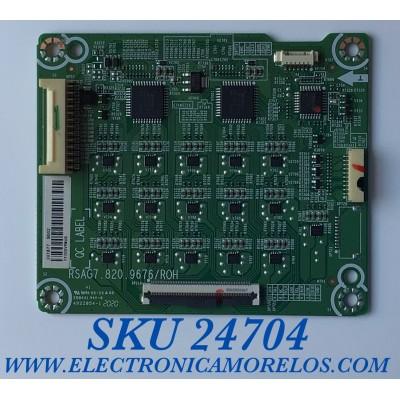 LED DRIVER PARA TV HISENSE / NUMERO DE PARTE 261877 / RSAG7.820.9676/ROH / TX205V9M6G / B002 / PANEL JHD500X3U51-TA\S0\FJ\GM\ROH / MODELO 50H8G