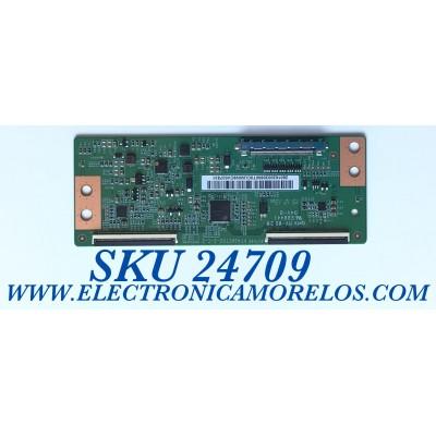 T-CON PARA TV LG / NUMERO DE PARTE 2601620030900T / PT430CT02-2-C-2 / 2601620030900T0CUWN9CV037831 / PANEL NC430DU-VHHX1 / MODELO 43LM5700PUA / 43LM5700PUA.BUSSLJM