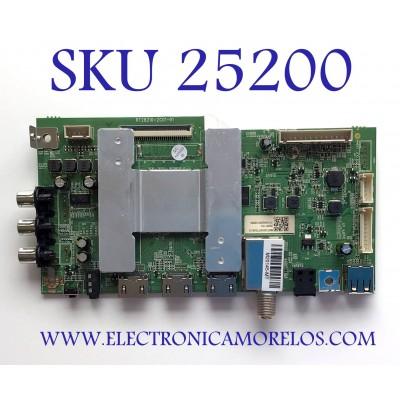 """MAIN PARA TV ONN DE 32"""" / NUMERO DE PARTE RT28210-ZC01-01 / 102P2E02908B0 / CQC19001215262 / M20145-MT / M07/2010077026/15 / 20201114 / 1010462000 / PANEL HV320WHB-F56 / MODELO 100012589"""