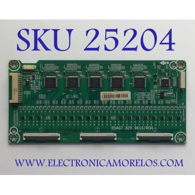 LED DRIVER PARA TV HISENSE NUMERO DE PARTE 260635 / RSAG7.820.9616/R0H / TX201B17GW / B002 / MODELO 55H8G